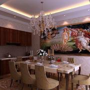 欧式精美别墅餐厅背景墙