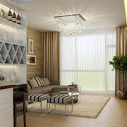 现代简约时尚客厅酒柜设计