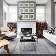 美式样板间沙发装饰