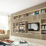 现代简约原木书柜设计