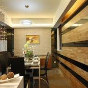简约风格原木客厅墙饰设计