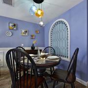 欧式田园风格餐厅圆桌装饰