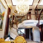 大型别墅螺旋形楼梯效果图