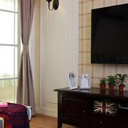 美式别墅简约风格客厅飘窗