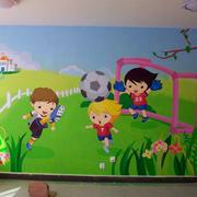 幼儿园活动室墙饰图片