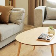 日式客厅原木茶几设计