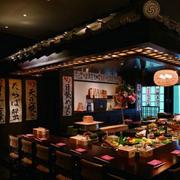 日式店面餐厅背景墙设计