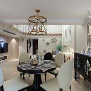美式简约风格餐厅创意灯饰效果图