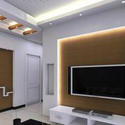 白色简约风格客厅电视柜