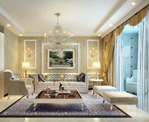 欧式奢华客厅背景墙