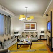 后现代风格简约白色客厅装饰