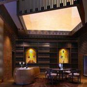 后现代风格深色酒窖装饰