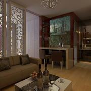 新中式风格客厅隔断装饰