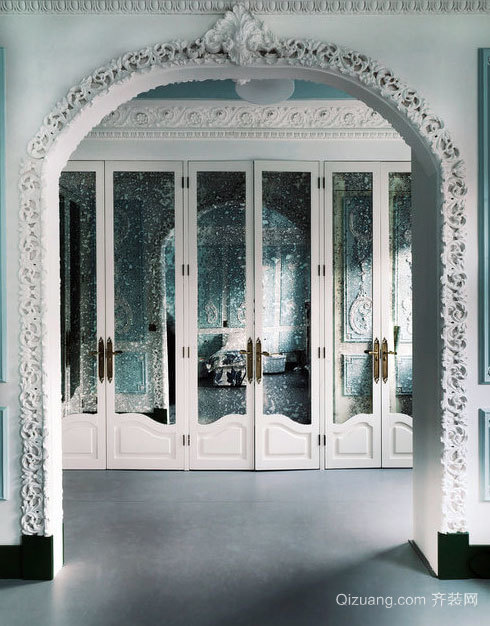 180平米地中海风格优雅蓝色古堡般私人别墅装修