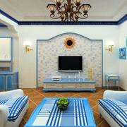 地中海风格客厅吊顶装修