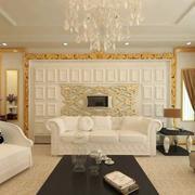 欧式客厅石膏板背景墙