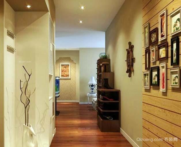 记录展示美好瞬间的家庭室内照片墙装修设计效果图
