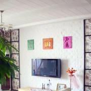 现代简约客厅背景墙装饰