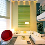 后现代简约风格客厅样板间效果图