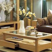 日式简约客厅茶几效果图