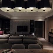 三室一厅客厅射灯效果图