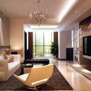 简约风格深色客厅电视背景墙装饰