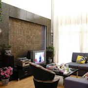 小户型后现代风格电视背景墙