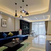 三室一厅后现代风格客厅装饰