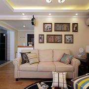 美式别墅沙发背景墙