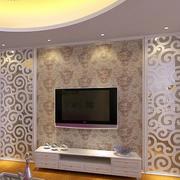 简约印花客厅背景墙装饰