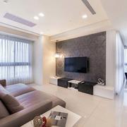 简约风格公寓客厅电视背景墙