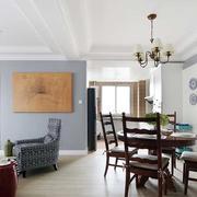 欧式简约风格公寓餐厅背景墙设计