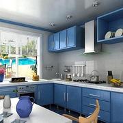 地中海风格蓝色厨房装饰