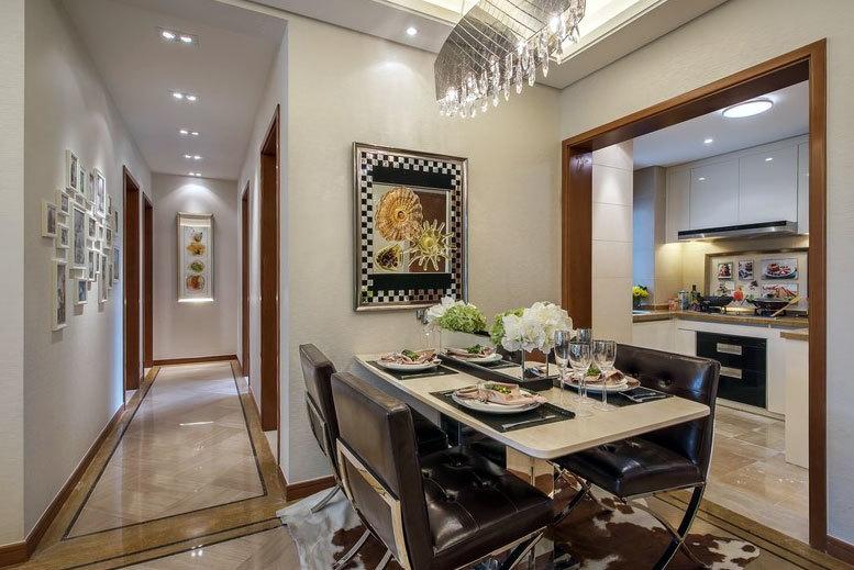 120平米的现代风格三室家居样板房装修设计效果图