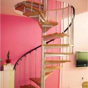 跃层原木楼梯效果图