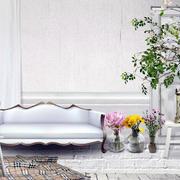 白色简约风格客厅沙发装饰
