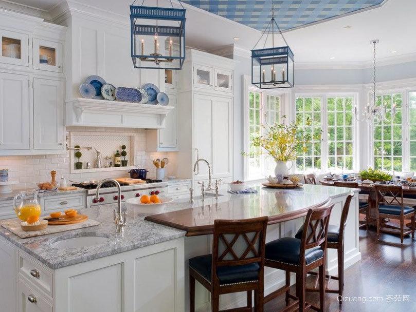 轻轻松松做饭:精致的大户型欧式开放式厨房装修效果图鉴赏