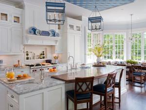 美式开放式厨房装饰