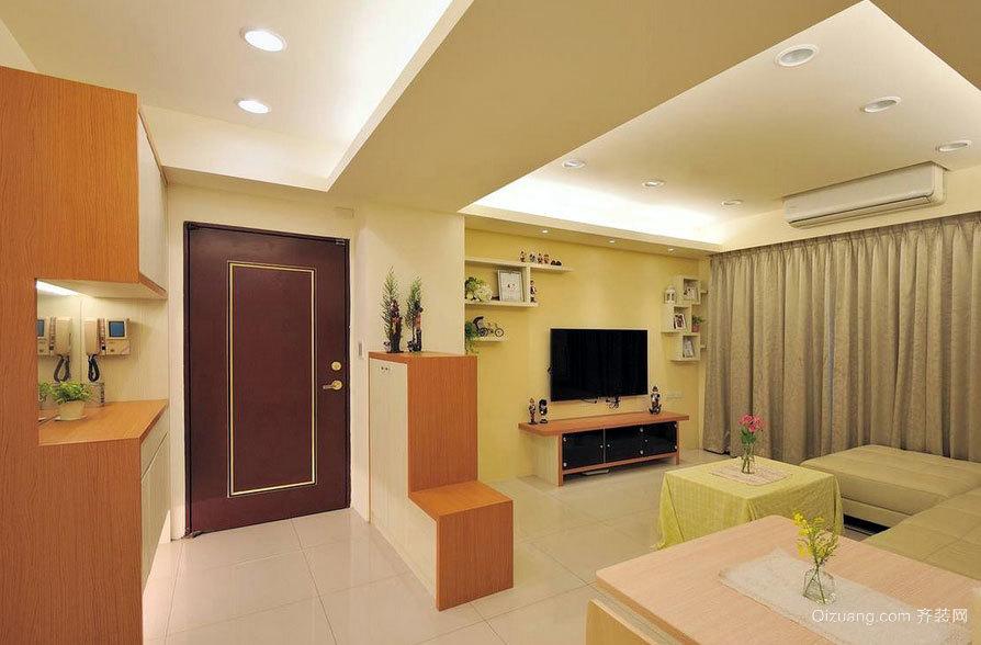 宅在家的快乐:适合宅女的简约两室一厅室内设计效果图