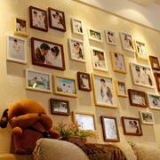 美式简约风格客厅照片墙