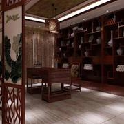 中式书房原木家具装饰