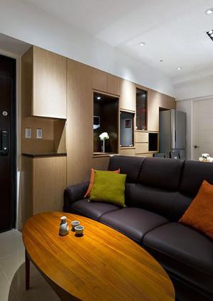 两层房屋后现代风格皮制沙发