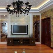 欧式经典简约风格客厅背景墙