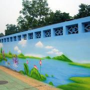幼儿园操场墙饰效果图