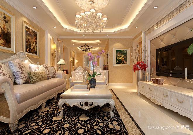 180平米水晶城般温馨浅色三居室房屋装修效果图