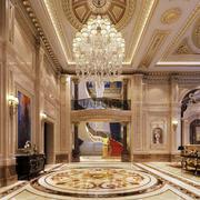 欧式奢华客厅大型灯饰设计