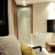小户型简约客厅电视设计