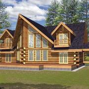 美式小型木制别墅装饰