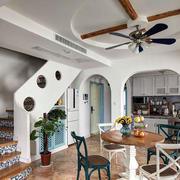 地中海原木客厅吊顶装饰