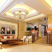 欧式奢华风格客厅吊顶装饰